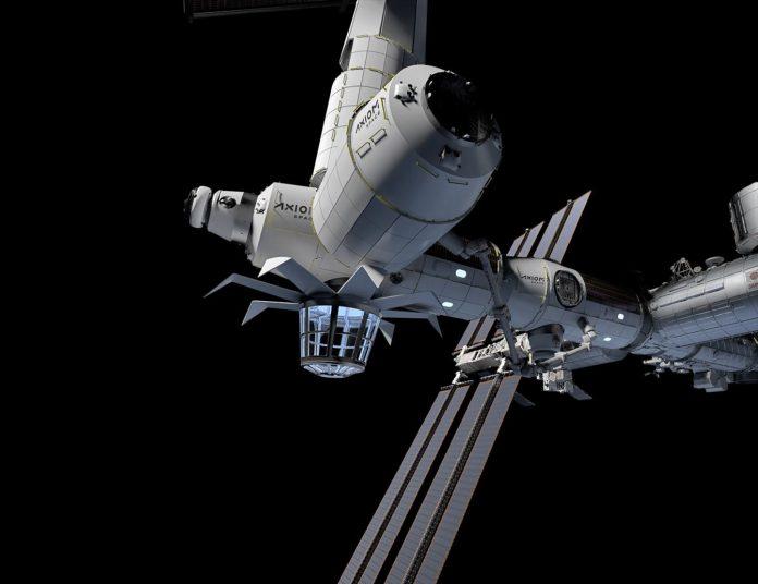 La estación de Axiom instalada en la Estación Espacial Internacional.Por:(Foto: EFE/Axiom Space)